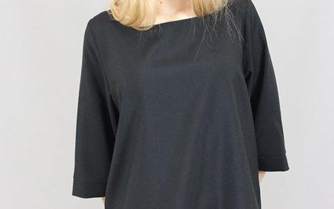 Jessica  t-shirt minimal antimacchia  disponibile nero – ecru- tortora- grigio p…
